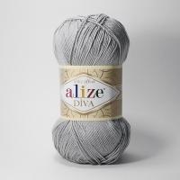 Пряжа Ализе Дива (355 серый)