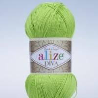 Пряжа Ализе Дива (612 зеленый неон)