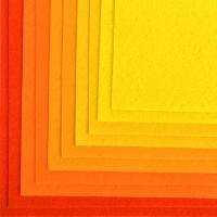 Фетр листовой IDEAL 1мм 20*30см, в ассортименте, 1 шт (желтый ассорти)
