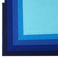 Фетр листовой IDEAL 1мм 20*30см, в ассортименте, 1 шт (синий ассорти)