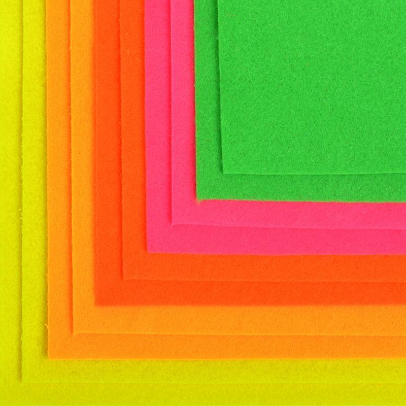 Фетр листовой флуорес. IDEAL 1,4мм 20*30см, в ассортименте, 1 шт