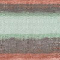 Пряжа Ализе Дива Батик (5550 салат/серый/оранж)