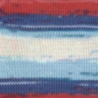 Пряжа Ализе Дива Батик (5950 м. красный/синий)