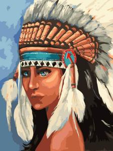 Картина по номерам MG2113 Индейская девушка