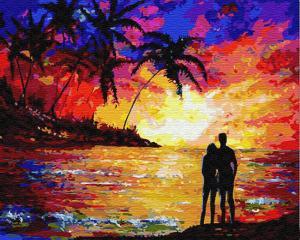 Картина по номерам GX23465 Влюблённые на закате