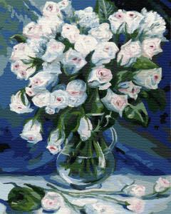 Картина по номерам EX5948 Букет белых роз