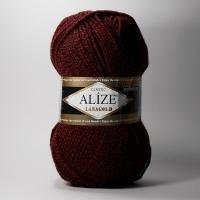 Пряжа Ализе Лана Голд (603 меланж черно-красный)