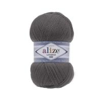 Пряжа Ализе Лана Голд 800 (348 т.серый)