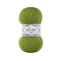 Пряжа Ализе Лана Голд 800 (485 зеленая черепаха)