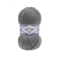 Пряжа Ализе Лана Голд 800 (21 серый меланж)