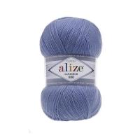 Пряжа Ализе Лана Голд 800 (40 голубой)