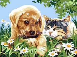 Картина по номерам EX5266 Милые друзья