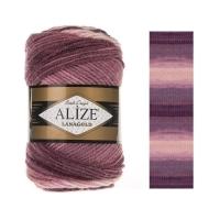 Пряжа Ализе Лана Голд Батик (1895 розовый/лиловый)