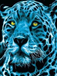 Картина по номерам MG2117 Неоновый ягуар