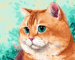 Картина по номерам GX29469 Упитанный кот