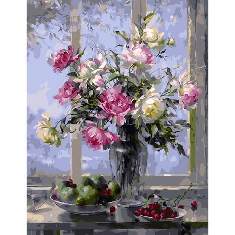 Картина по номерам GX 31162 Распустившиеся розы 40*50