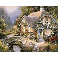 Картина по номерам GX 9969 Весенний домик 40*50