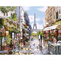 Картина по номерам GX 32748 Яркая парижская весна 40*50
