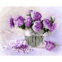 Картина по номерам  GX 30854 Фиолетовый букет 40*50