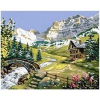 Картина по номерам GX 32445 Домик на альпийских лугах 40*50