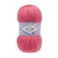 Пряжа Ализе Шекерим Беби (170 темно-розовый)