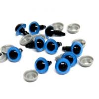 Глазки винтовые в ассортименте 12 мм с фиксатором (синие)