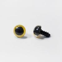 Глазки винтовые в ассортименте 12 мм с фиксатором (желтые)
