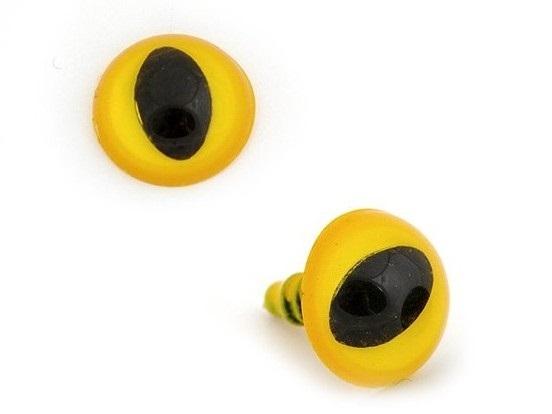 Глазки винтовые в ассортименте 14 мм с фиксатором, кошачий глаз