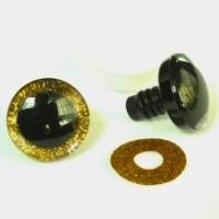 Глазки винтовые 25 мм в ассортименте с искоркой (желтые)