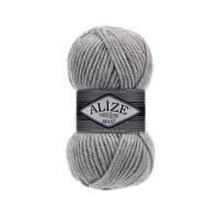 Пряжа Ализе Суперлана Макси (208 светло-серый меланж)