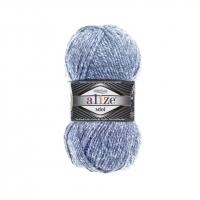 Пряжа Ализе Суперлана Миди (806 синий жаспе)