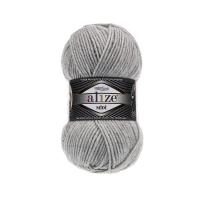 Пряжа Ализе Суперлана Миди (208 светло-серый меланж)