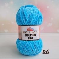 Пряжа Himalaya Dolphin Fine (26 бирюзово-голубой)