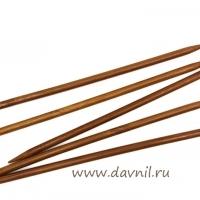 Спицы носочные бамбук 20 см 5 шт 3;3,5;4;4,5;5;5,5;6;6,5;7 мм (6 мм)