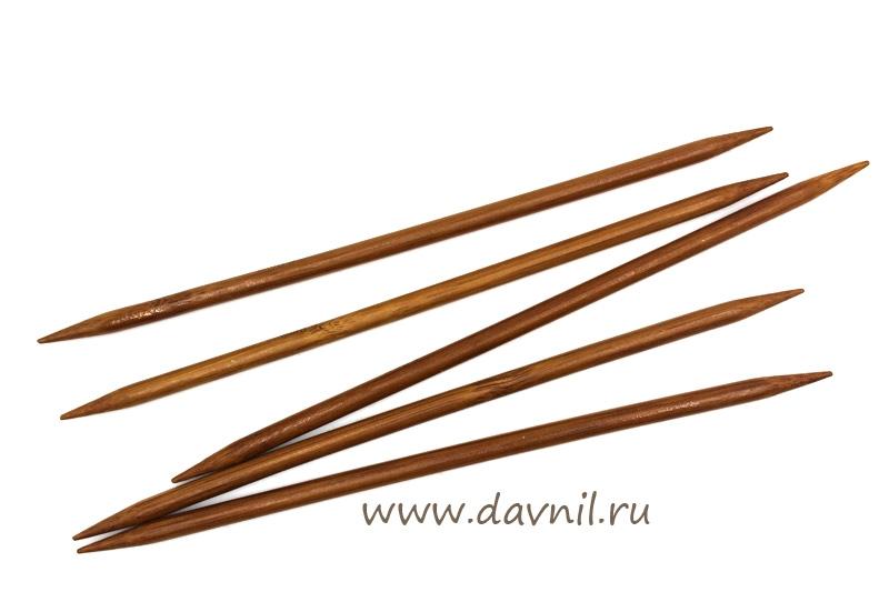 Спицы носочные бамбук 20 см 5 шт 3;3,5;4;4,5;5;5,5;6;6,5;7 мм