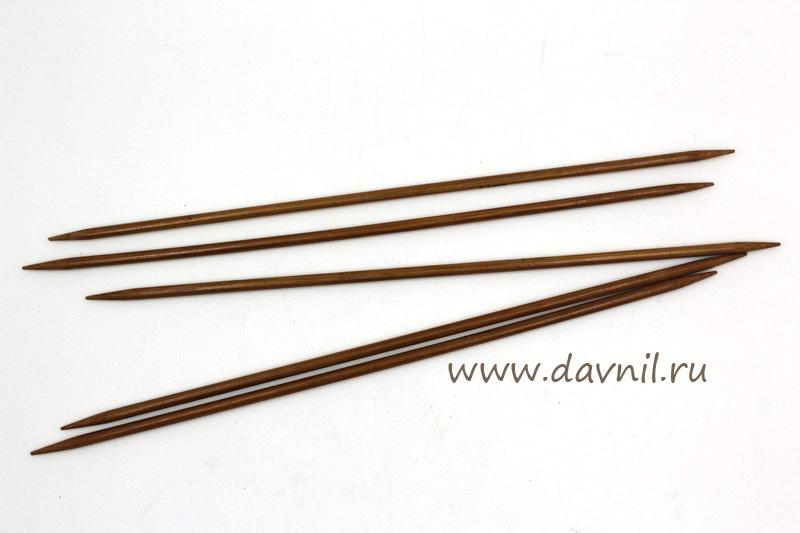 Спицы носочные бамбук 20 см 5 шт 3,5 мм; 4 мм