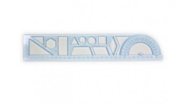 Трафарет пластиковый Геометрические фигура Asmar АР-3109