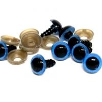 Глазки винтовые 14 мм с фиксатором в ассортименте, 1 шт (синие)