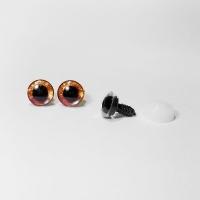 Глазки винтовые в ассортименте с искоркой 20 мм, 1 шт (оранжевые)