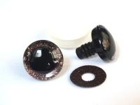 Глазки винтовые в ассортименте с искоркой 20 мм, 1 шт