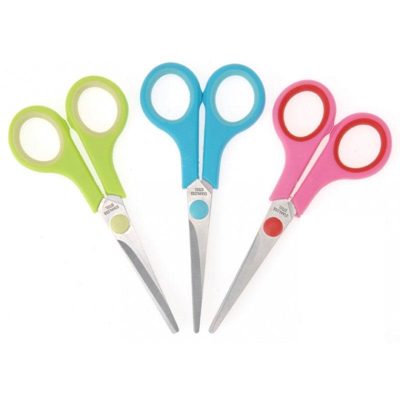 Ножницы 14см ,KAIBO SCISSORS, цветные ручки КВ405-1(В)