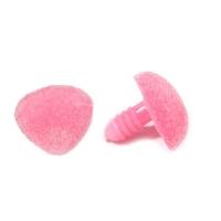 Нос бархатный винтовой 15 мм розовый