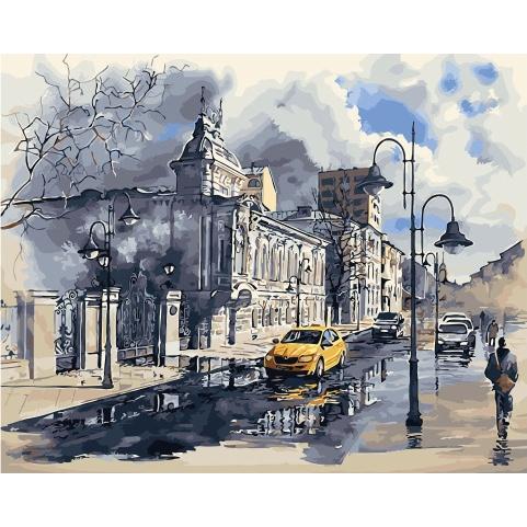 Картина по номерам GX 31044 Улицы после дождя 40х50 см