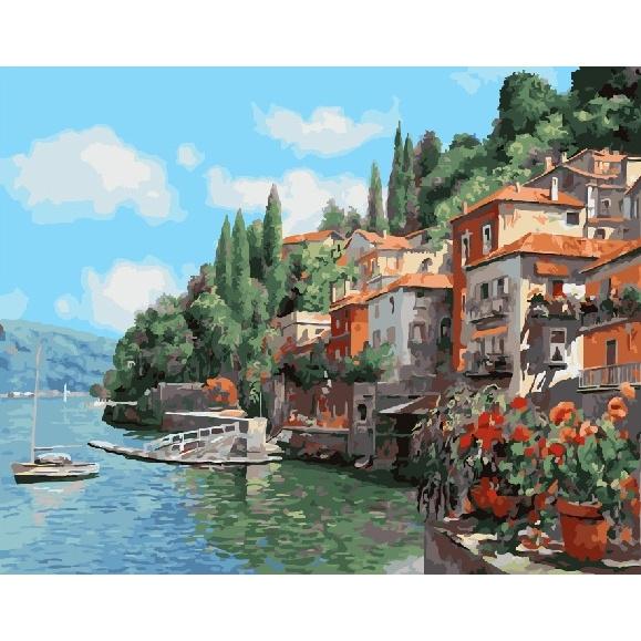 Картина по номерам GX 26066 Городок у моря 40х50 см