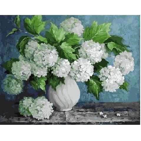 Картина по номерам GX 29093 Белые гортензии 40х50 см