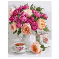 Картина по номерам GX 28645 Чай и розы 40х50 см