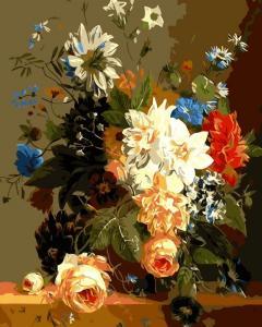 Картина по номерам ME1014 Роскошные цветы