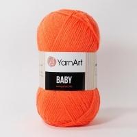 Пряжа YarnArt Baby (8279 оранжевый неон)