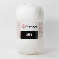Пряжа YarnArt Baby (501 белый)