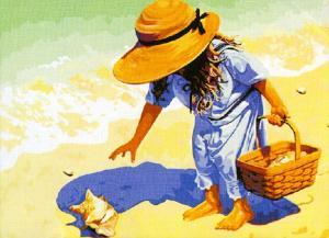 Картина по номерам MG037 На пляж, за ракушками!